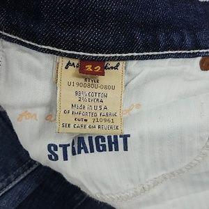 7 FOR ALL MANKIND straight leg dark wash jeans 32